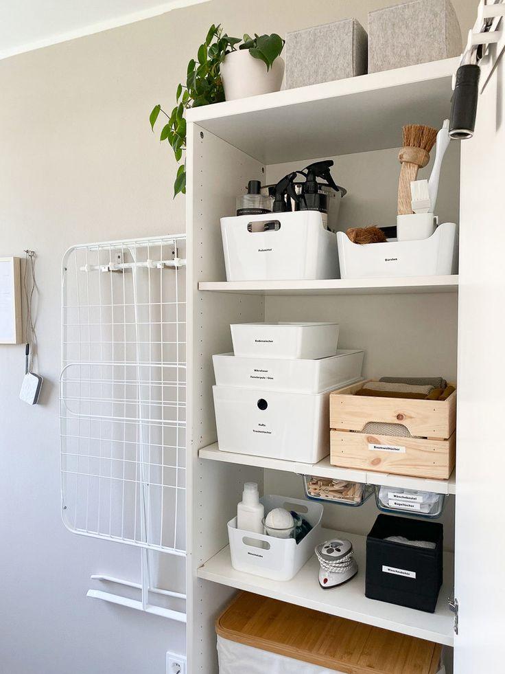 Putz Waschschrank Organisieren Mit Ikea Und Ein Putzplan Zum Ausdrucken Putzschrank Ikea Organisation Putzraum