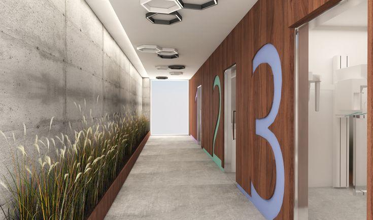 Kolor we wnętrzach i jego znaczenie oraz wpływ na samopoczucie i odbiór pomieszczeń w procesie projektowym nowoczesnej kliniki stomatologicznej.