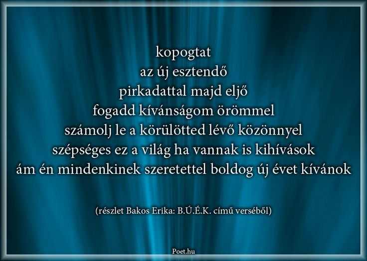 Részlet Bakos Erika B.Ú.É.K. című verséből.