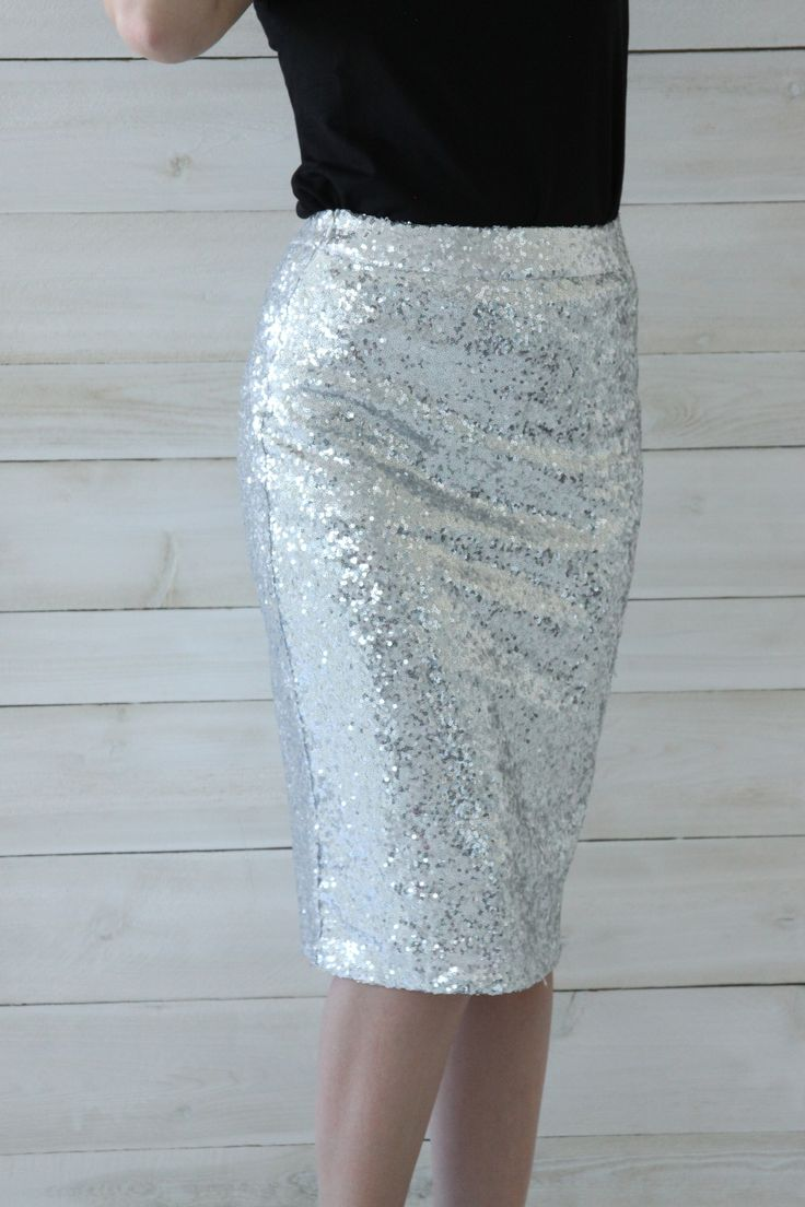 Posh Pencil Skirt - Silver – Mindy Mae's Market