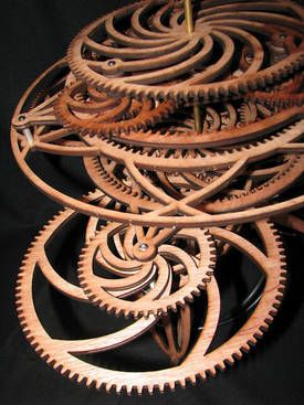 """""""Brent Thome, a computer scientist in San Francisco, is building a mechanical computer out of beautiful, laser-cut gears that will compute and draw fractals."""" via boingboing"""