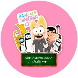 Oulu Sinfonia. Sinfoniaorkesterin soitinten esittely plus ääninäytteet sekä kivoja pelejä aiheen tiimoilta
