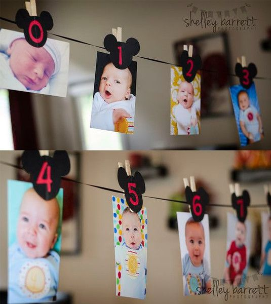 Baby Time Line - Adorable First Birthday Party Ideas - Photos