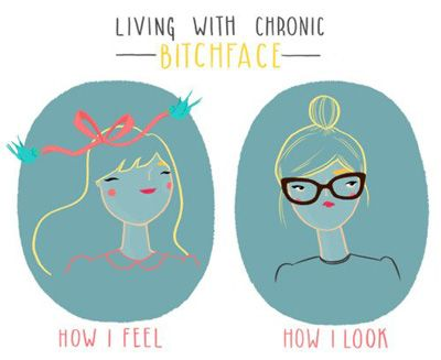 Living with Chronic Bitchface (Resting Bitchface RBF)