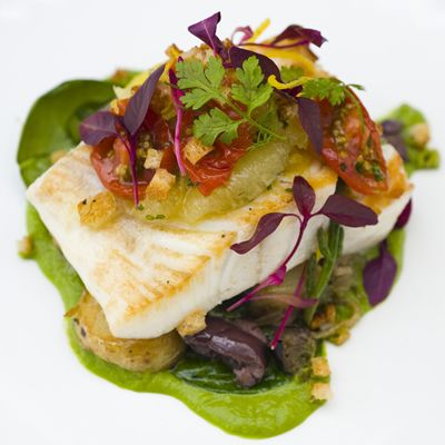 Tom kitchin, pan roast fish. Wonderful colours and textures.