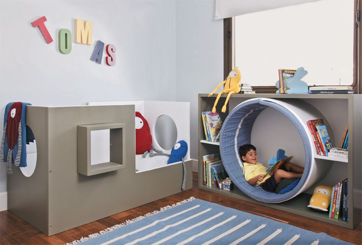 Reading nook IN the book case... very cool!