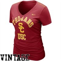 Nike USC Trojans Ladies Who's That V-Neck T-Shirt