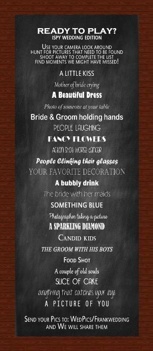 Fun I SPY Wedding Reception Game #weddinggame #ispyweddinggame #wedding by trisha