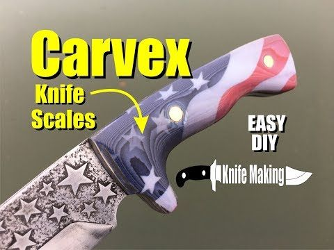 How to easily make a custom knife handles and produce