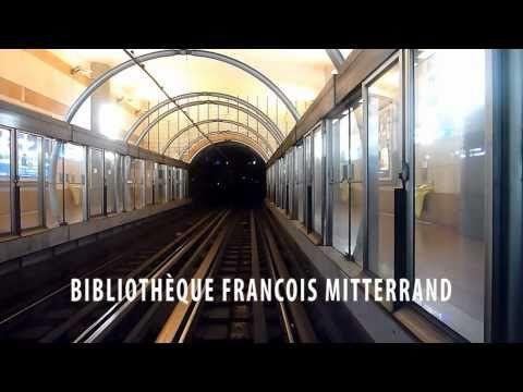 Paris Metro - Line 14 - St Lazare to Olympiades - YouTube