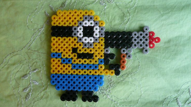Despicable Me Minion With Jellygun Hama Beads by Sneeuwmaan on deviantART