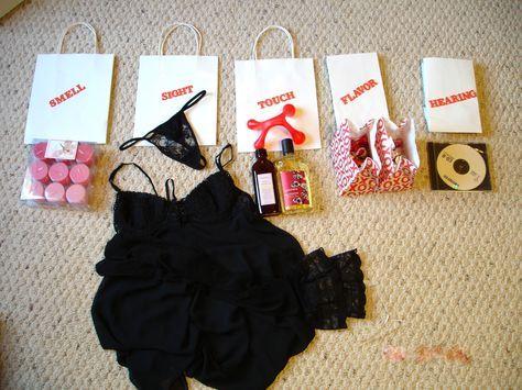 Five senses gift idea for HIM Presente dos cinco sentidos para ele