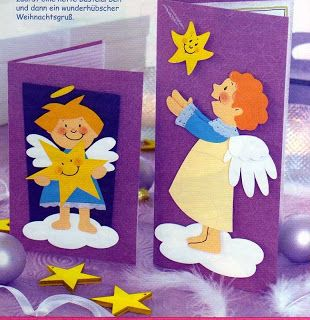 angels | Christmas greeting cards - paper craft pattern