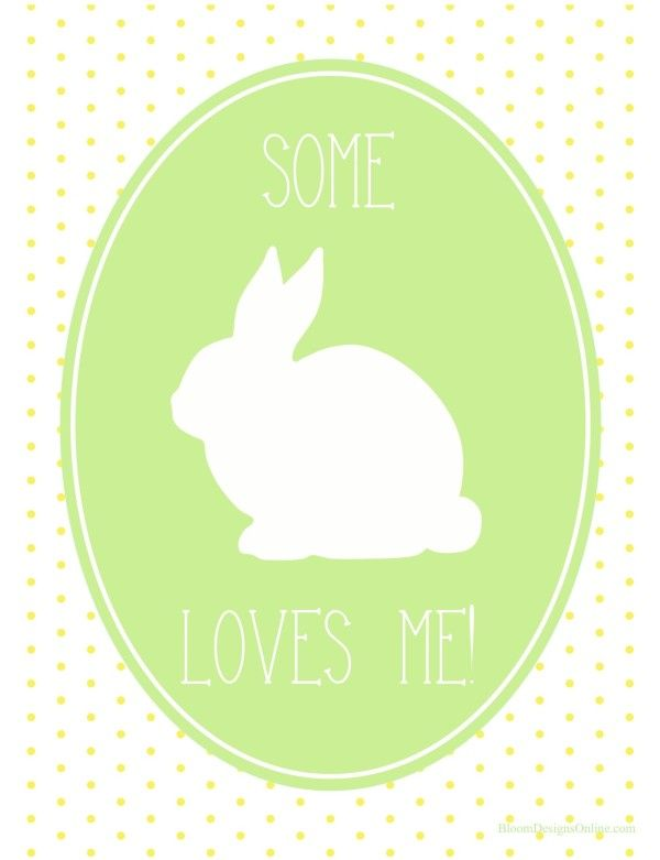 bloom designs - easter - make it monday - some bunny loves you (template)