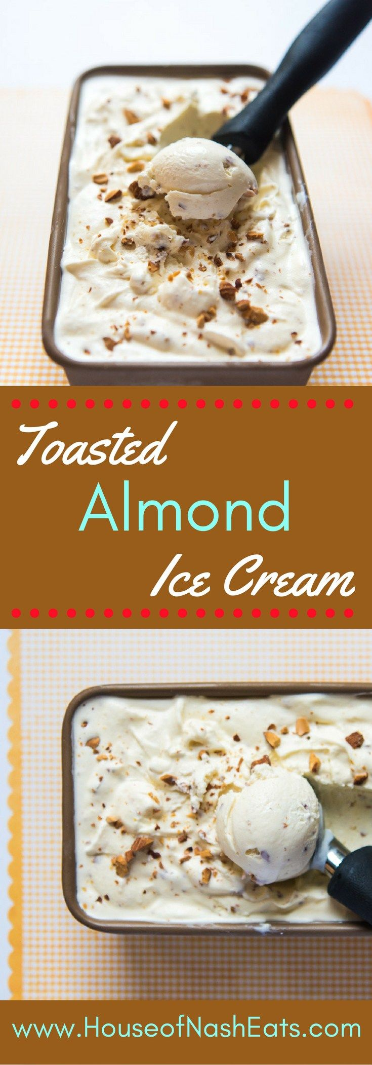 An almond-flavored ice cream chock full of nutty pieces of chopped, toasted…