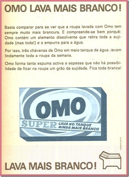 Detergente Omo.