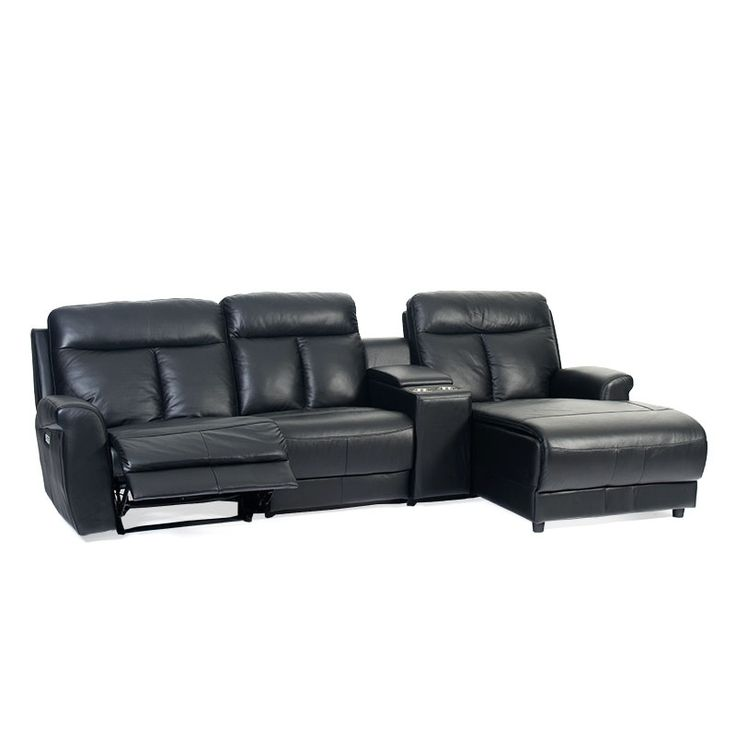 Trafalgar 3 Seater Home Theatre including Chaise Featuring Powered Recliner - Discount Lounge Centre