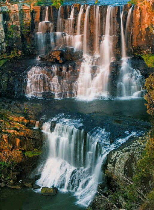 Ebor Falls are located on the Guy Fawkes River near Ebor on Waterfall Way in the New England region of New South Wales
