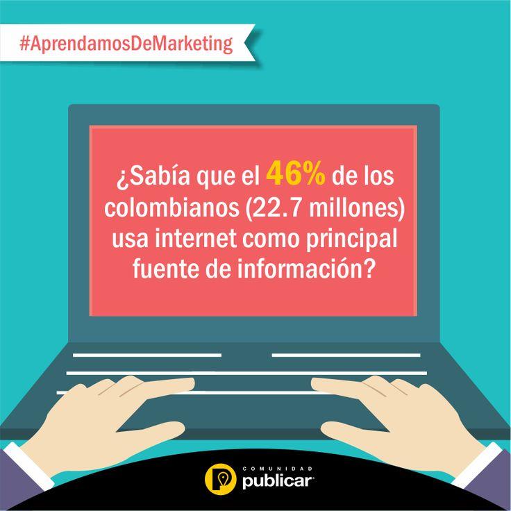 #AprendamosDeMarketing El 30% de los colombianos usa su smpartphone a diario para investigar sobre las características de un producto que acaba de ver. Y su #Pyme, ¿ya está aprovechando esta oportunidad?