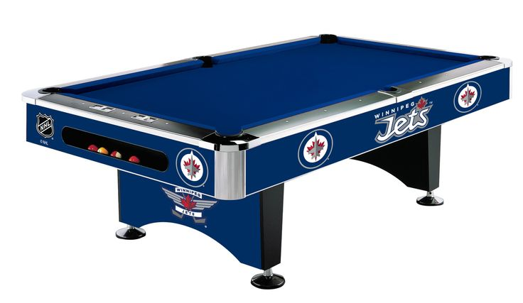 Winnipeg Jets 8ft Pool Table. Get all your NHL Fan Gear and Decor for your Game Room, Home, Bar or Fan room At Xtreme Gameroom