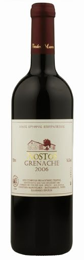 Manousakis Winery - Nostos Grenache 2010. Grape varietal: Grenache Rouge. The wine is certified organic. Our price, DKK 149.00