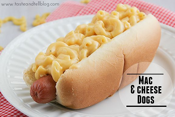 Mac & Cheese Dogs, wow! You've got to try this at your next BBQ. Perfect for the 4th of July?