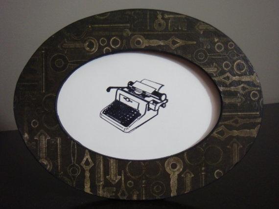 Black Vintage Skeleton Keys Print Oval by SassyPlanetBoutique, $10.00