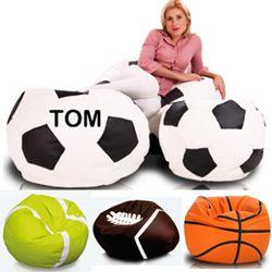 De zitzak voor de echte sportliefhebber. De sport zitzak heeft door de leatherlook stof een luxe uitstraling en een geweldig zitcomfort. Ver...