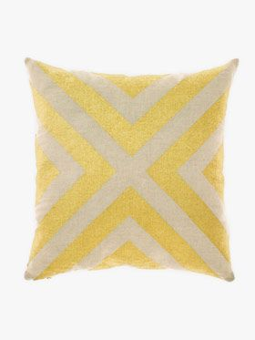Grande Gatsby Cushion in gold by Aura, available at Forty Winks.