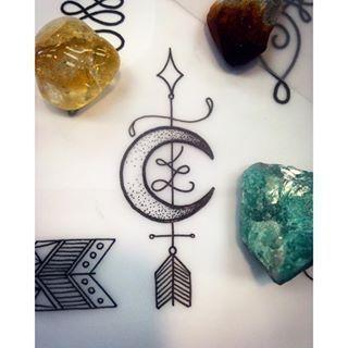 unalome arrow tattoo - Recherche Google                                                                                                                                                     More