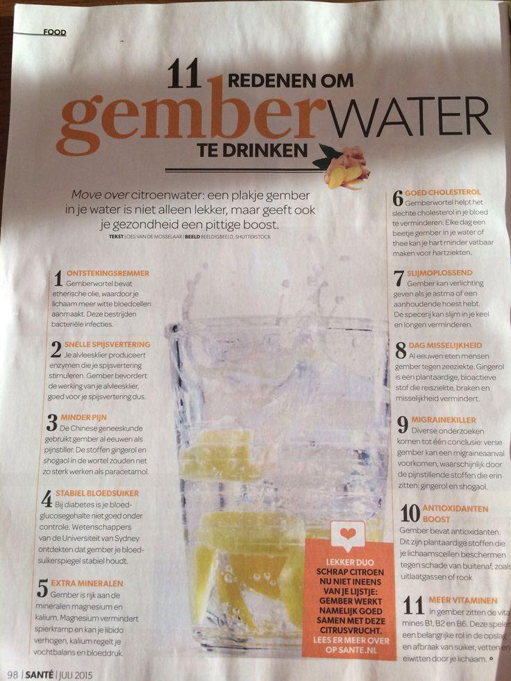 Gember water met citroen