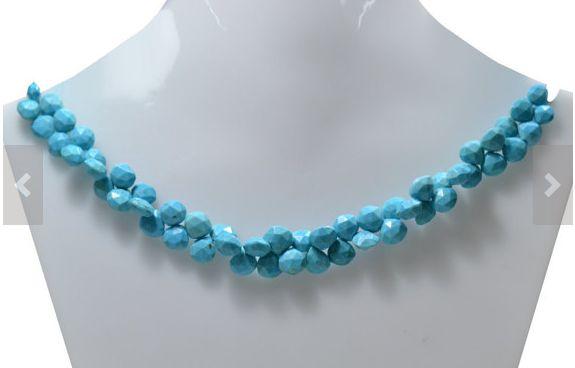 8 Inch AAA Quality Turquoise Heart Shape Gemstone Beads