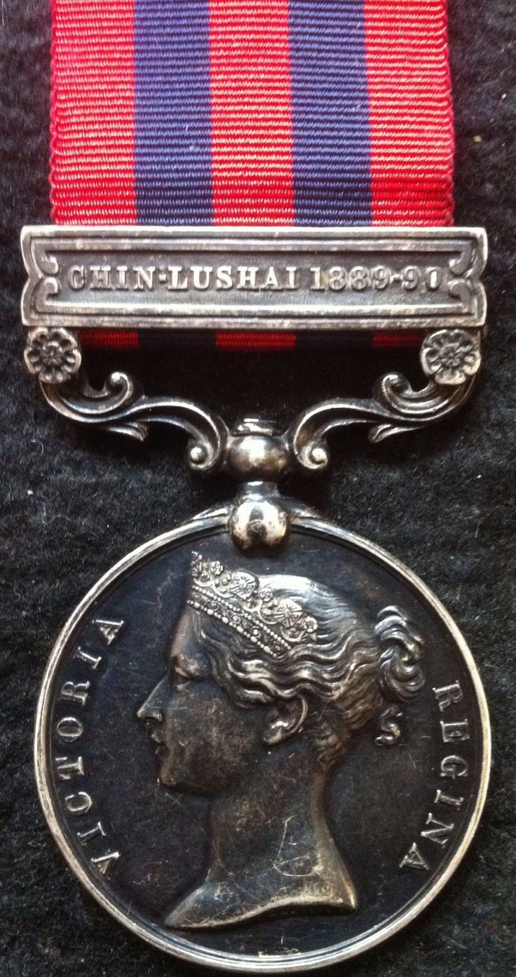 Indian General Service Medal 1854 - with bar, Chin-Lushai (1889-90)