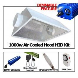 yield lab 1000w hps cool hood reflector digital grow light kit