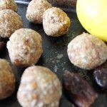Raw Lemon Protein Balls