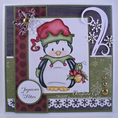 christmas card / whimsy penguin