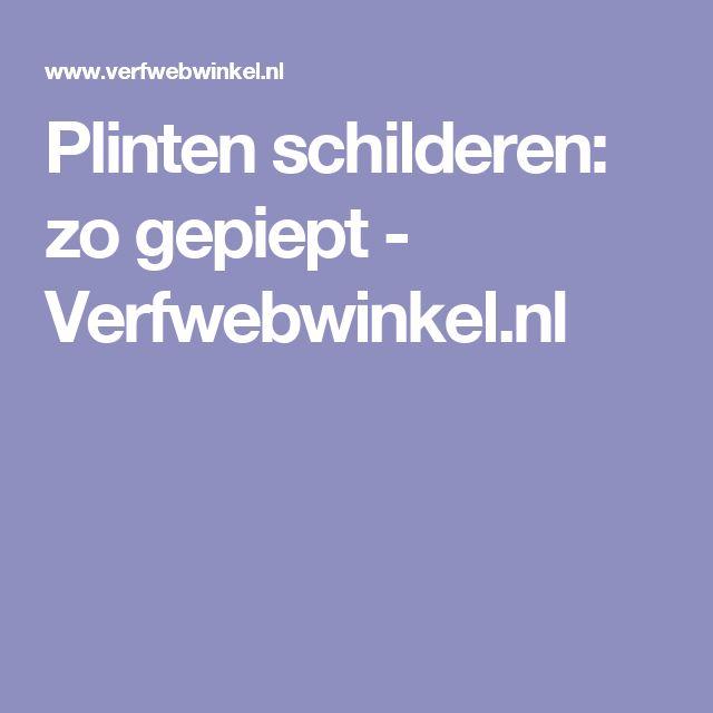 Plinten schilderen: zo gepiept - Verfwebwinkel.nl