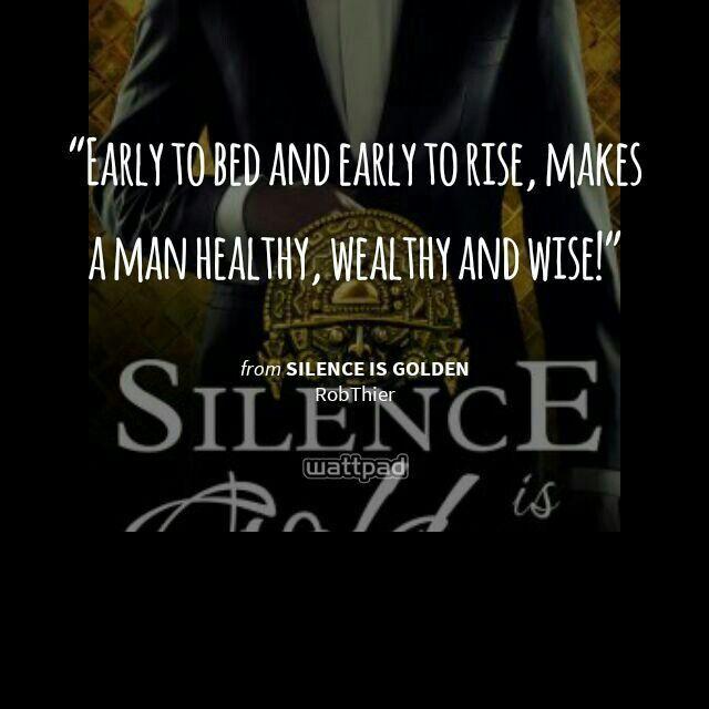 Silence Is Golden Robert Thier