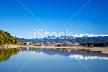View across the Motueka Estuary, Tasman Region, New Zealand Royalty Free Stock Photo