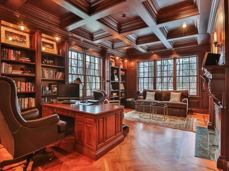 Tour a Renovated Colonial Home in New Canaan  Conn. 304 best Home   Office Library images on Pinterest