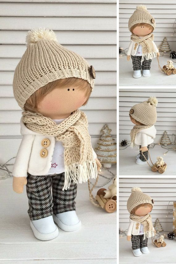 Rag doll Boy doll Fabric doll Textile doll by AnnKirillartPlace