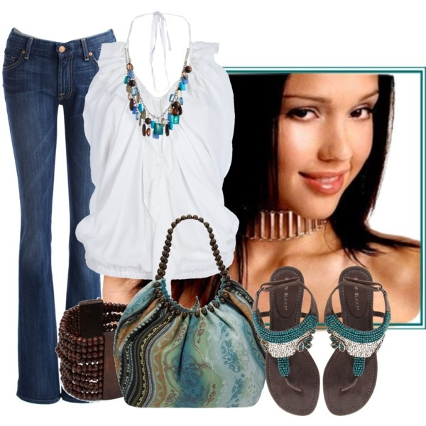Pops of Aqua and a Little Western :)