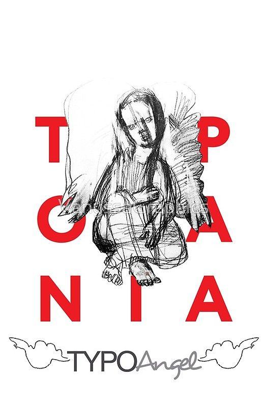 Typo Angel (TYPOMANIA) by Alice CC Iordache