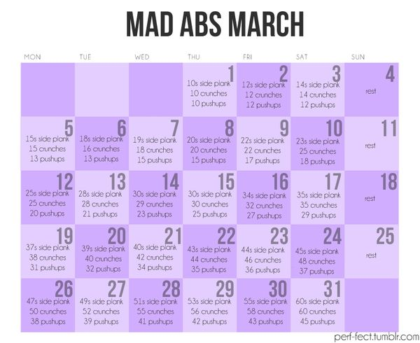 how to get abs in a month workout plan