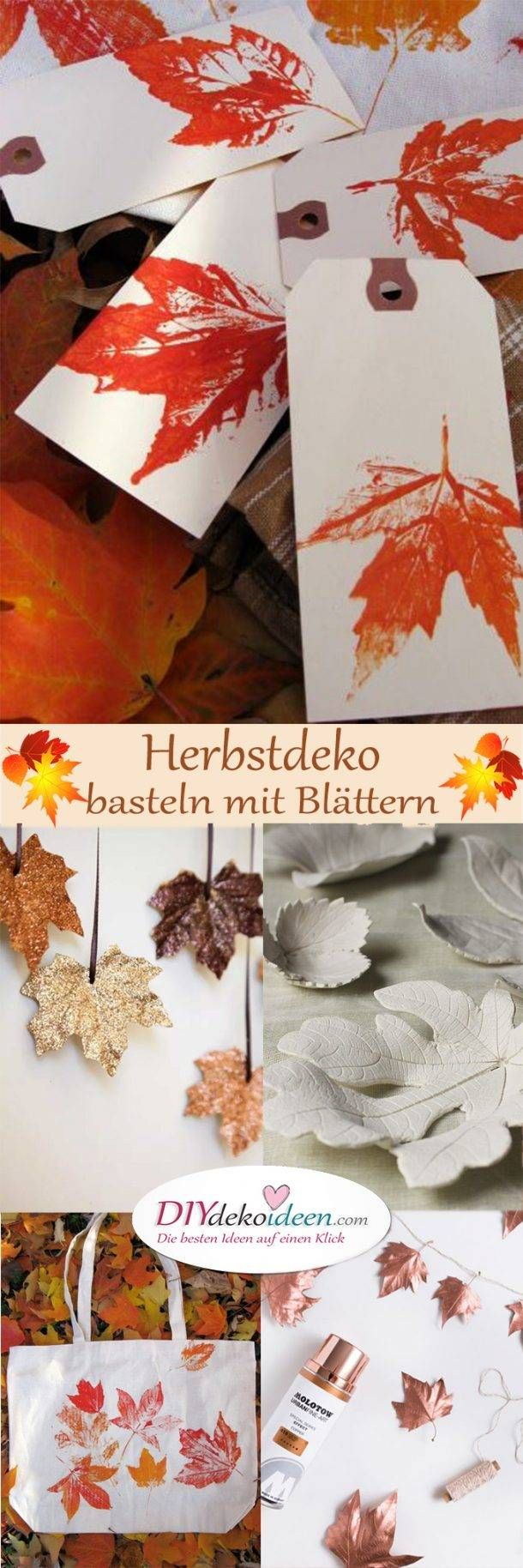 Making autumn decorations with leaves – The most beautiful DIY craft ideas
