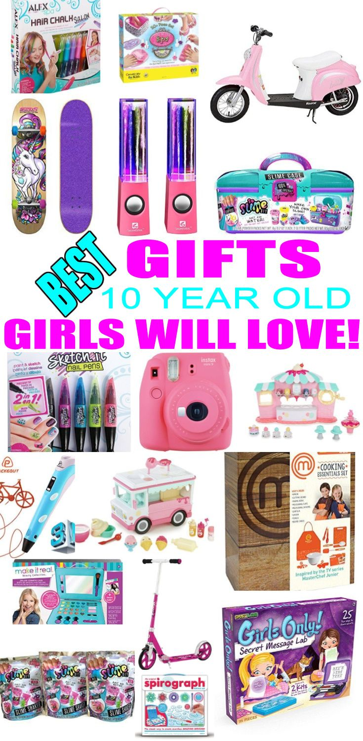 Top Gifts For 10 Year Old Girls! Best suggestions for gifts & presents for a girls tenth birthday, Christmas or just because. Find the best gifts, toys, makeup, beauty, cooking, baking, electronic, games, room decor for a girls 10th bday or Christmas. Get the best gift ideas now!