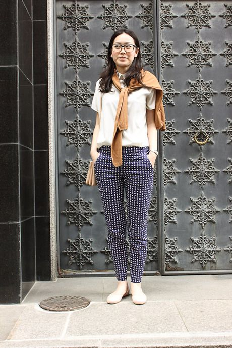 .: Patterns Pants, Polka Dots, Prints Pants, Tokyo Street Style, Gowns, Street Styles, Summer Work Outfits, Women Jeans, Style By Fashionsnap