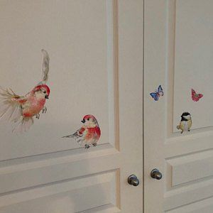 2 Birds Wall Decal Bird Birds Wall Stickers Get Well Gift Etsy