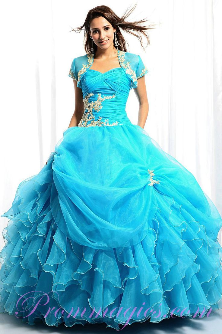 28 best Quinceanera dresses only blue images on Pinterest | Quince ...