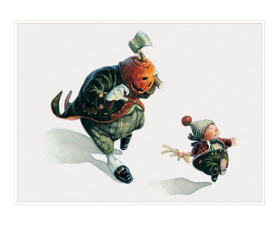 SIGNED Fine Art Print Halloween RUN Big by StudioJBMongeGoblin, $40.00
